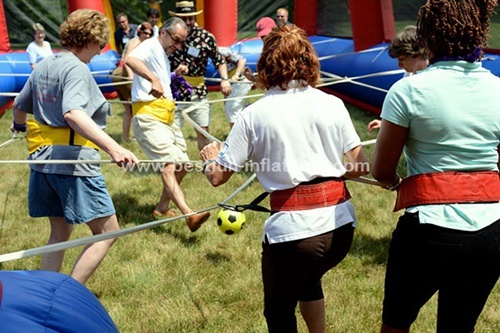 Human foosball interactive inflatable sport games