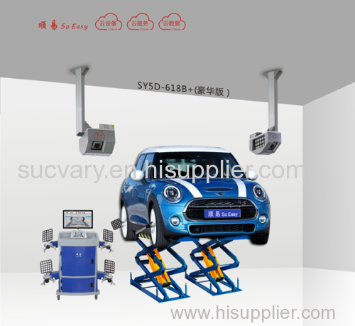 5D wheel alignment for all kinds of car lift with mini scissors lift case