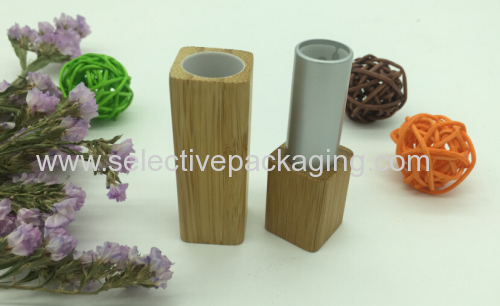 eco-friendly bamboo lip stick aluminum lip stick container