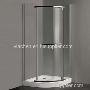 Tempered Glass Shower Enclosures with Shower Tray for corner use