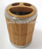 BAMBOO STEEL BATHROOM TEETH BRUSH CUP SMILE FACE SOAP CASE BAMBOO CUP