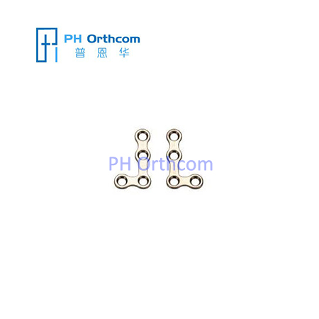Titanium Mini L-shaped Plate for Maxillofacial Surgery thickness 1.0mm 4 holes without bridge