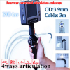 Joystick control detection tool Industrial borescope videoscope endoscope OD3.9MM 4ways articulation car inspection tool
