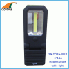 3W COB high power magnet and hook working light 3*AAA car repairing lamp outdoor camping light emergency 180Lumen lamp