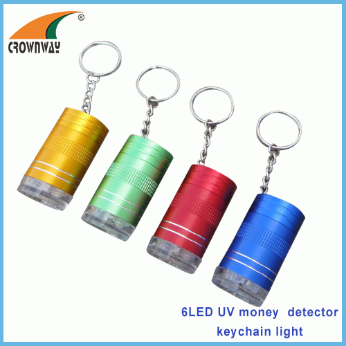 UV LED money detector lamp UV keychain lights mini keychain light pocket lamp