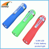 0.5W 20Lumen pocket torch 1*AAA clip light mini flashlight LED hand torch