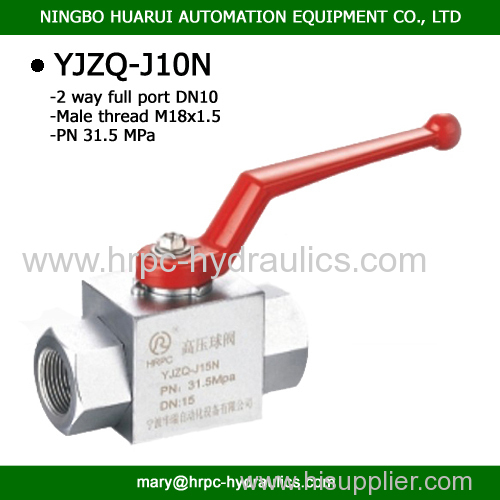 domestic standard M18*1.5 female or male thread or BSP3/8 thread two way high pressure ball valve