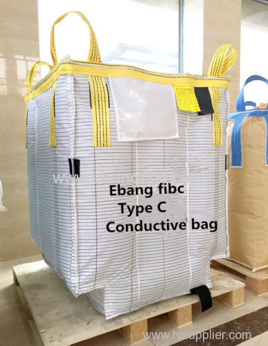 Conductive FIBC jumbo bag for powder