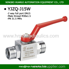 domestic standard M22*1.5 female thread high pressure ball valve with welded connection