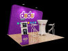 Customized Exhibition Booth 10ft x10ft