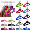 42cm ABS plastic velvet non-slip heart hanger for skirt/tops/suit-dress/sun-top/dress