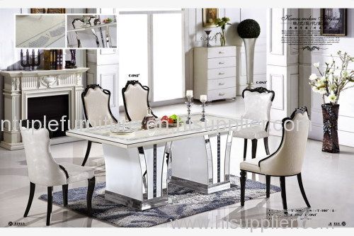 Rectangle 10 Seater Marble Dining Table