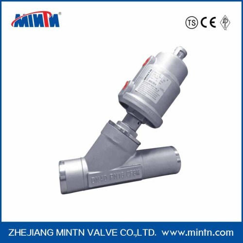 MINTN Pneumatic SS Angle Seat Valve /Piston Valve welded connection