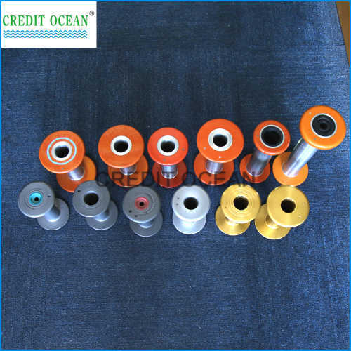 CREDIT OCEAN high press injection aluminium alloy bobbin for covering machine part