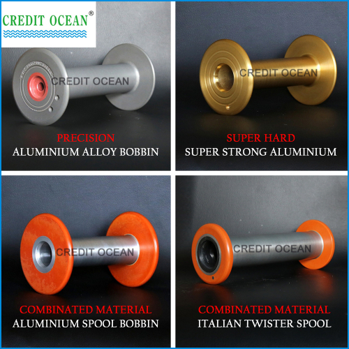 CREDIT OCEAN combinated material Italian twister spools for covering machine part