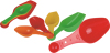Measuring spoons Plastic Daily Use