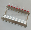 8 Port Stainless Steel Underfloor Heating Flow Meter Manifold
