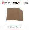 2 ways Brown paper slip sheets with Certificate of quality