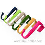 Colorful velvet door hook for home storage
