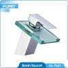 FUAO bathroom glass waterfall basin faucet