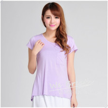 Apparel & Fashion T-shirts YUSON Bamboo Blouse Women's Short Sleeves Casual Tops T-shirt For Summer