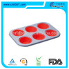 Ecofriendly cupcake baking mold with silicone pan 6 cups muffin cake pan