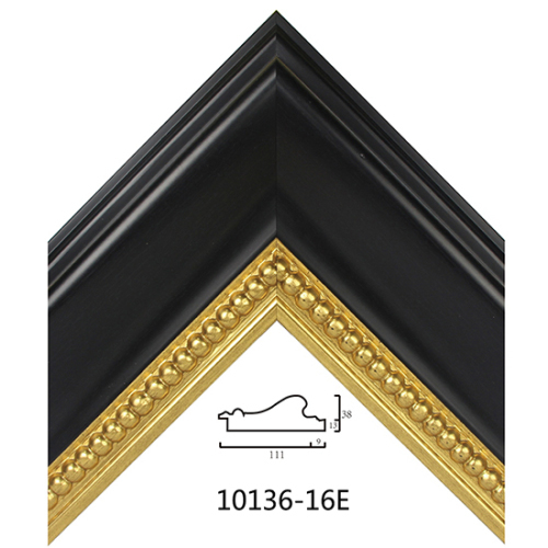 Black Embossed Picture Frame Mouldings