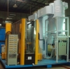 horizontal powder coating plant for the aluminum profile