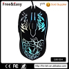 LED 7 color lighting up gaming mouse