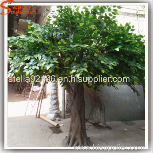 artificial greenery fiberglass ficus microcarpa trees artificial oak