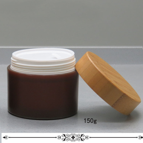 250g PP cream jar 250g bamboo cap with disc liner