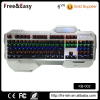 High quality wrist rest led backlit mechanical gamer keyboard