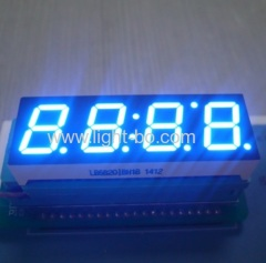 "Custom design ultra blue 4 digit 0.56"" 7 segment led display common anode for microwave control"