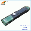 1W LED 80Lumen hand torch flashlight camping lamp emergency lamp 3*AAA batteries CE RoHS approval anodized aluminum