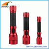 5W Cree LED 300Lumen rubber grip handle flashlight 3D 2D 2AA hand torch camping lantern heavy duty RoHS shock resistant