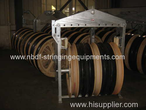 1040MM Three Wheels Overhead Line Cable Stringing Blocks for 1000KV Power Line