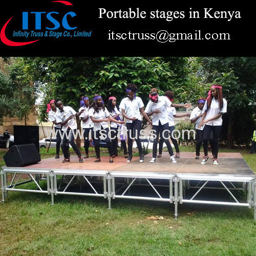 4 x 16 ft Portable stages in Kenya Market