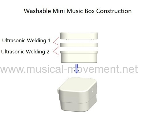 SMALLER NON WASHABLE PULL STRING MUSIC BOX