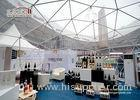 White Large Geodesic Dome Tents Aluminium Frame for Outdoor Event