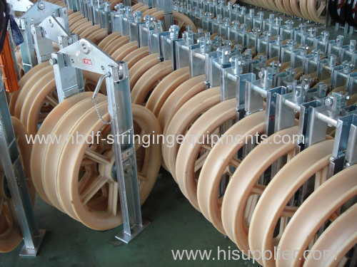 Conductor Stringing Blocks with Nylon sheave rollers for installation of overhead bundled cables