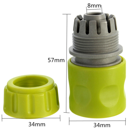 Plastic 1/2  Snap-In Quick Connector For Connecting Hose