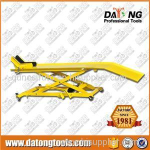 Hydraulic Motorcycle Lift Table Scissor Bike Lift 1000lbs With Wheel Lock
