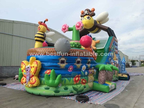 Cartoon Themed Playground Ball Pit Inflatable Pirate Ship