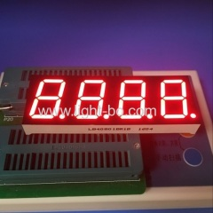 "Super red 4 digit 0.8"" 7 segment led display common anode for instrument panel"