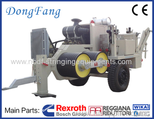 4 Conductors Tension Stringing Equipment of 16 Ton Tensioner
