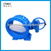 Double eccentric ductile iron material flanged water system butterfly valve