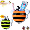 Hot Sale Cute minion bee Cartoon suction cup toothbrush holder bathroom accessories mixed colors