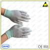 Electronics Safety Working Nylon PU Palm Coated Antistatic ESD Gloves