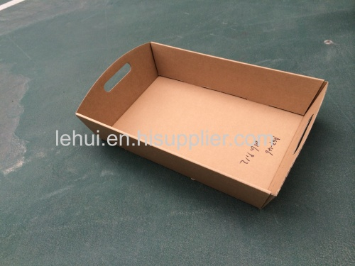 E flute corrugated craft paper mini hamper tray corrugated food house storage hamper tray paper box