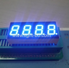 "Ultra blue 0.4"" 4 digit led 7 segment display common cathode for instrument panel"